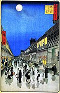 Hiroshige, Night View of Saruwakacho.jpg