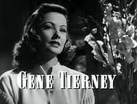 Gene Tierney in Laura trailer