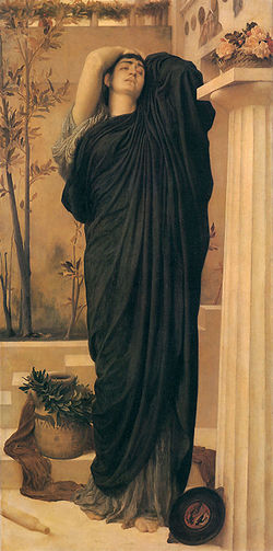 1869 Frederic Leighton - Electra at the Tomb of Agamemnon.jpg