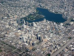 Closeup aerial view of Downtown Oakland and Lakeside Park.jpg