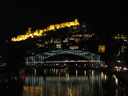 Peace Bridge at Night (Tbilisi).JPG