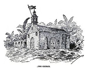 "The church of Baler from ""Under the red and gold"".jpg"