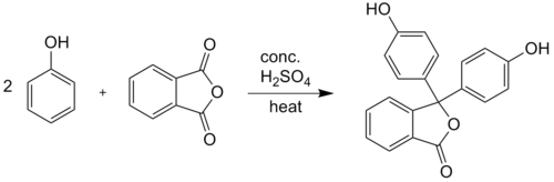 Synthesis of phenolphthalein